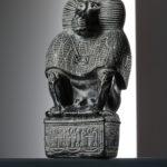 Gott Thot als Pavian (Foto: Thomas Hartmann, Universitätsbibliothek Mainz)