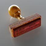 Exmatrikulationsstempel (Foto: Thomas Hartmann, Universitätsbibliothek Mainz)