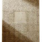 Clemens Brentano: Brief an Rahel Varnhagen [Rückseite] (Foto: Thomas Hartmann, Universitätsbibliothek Mainz)