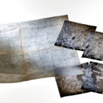Topografische Karte 1:25000 von 1966 und Luftbildausnahmen von Rheinhessen