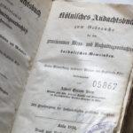 Kölnisches Andachtbuch von 1854 (Foto: Thomas Hartmann, Universitätsbibliothek Mainz)