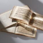 Noten zu Jan le Febures >Rosetum Marianum< von 1609 (Foto: Thomas Hartmann, Universitätsbibliothek Mainz)