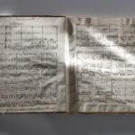 Noten zu Franz Joseph Messer >Trio (in D)< (Foto: Thomas Hartmann, Universitätsbibliothek Mainz)