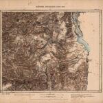Karte des Survey of Western Palestine (1880) mit dem Hulesee und dem obergaliläischen Bergland