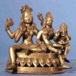 Śiva, Pārvatī und Gaṇeśa (Umā-Maheśvar-Mūrti) (Foto: Institut für Indologie)