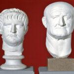 Porträts der Kaiser Nero und Vespasian in der Abguss-Sammlung (Foto: Angelika Schurzig, Institut für Altertumswissenschaften)