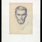 Bleistiftzeichnung >Selbstbildnis< , Robert Gerstenkorn (1877-1965), 1907 (Digitale Reproduktion: Arbeitsbereich Digitale Dokumentation)