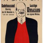Originalplakat >Roda Roda Lustige Vorlesung aus eigenen Werken< , Albert Weisgerber (1878-1915), 1910 (Digitale Reproduktion: Arbeitsbereich Digitale Dokumentation)