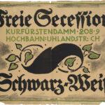 Originalplakat >Schwarz-Weiß< (Freie Secession), Emil Orlik (1870-1932), 1916 (Digitale Reproduktion: Arbeitsbereich Digitale Dokumentation)