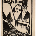 Originalplakat >Ausstellung Illustrierter Zeitschriften der Gegenwart< , Bernhard Kretzschmar (1889-1972), 1919 (Digitale Reproduktion: Arbeitsbereich Digitale Dokumentation)