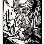 Originalholzschnitt >Jüngling< , Erich Heckel (1883-1970), 1917 (Digitale Reproduktion: Arbeitsbereich Digitale Dokumentation)