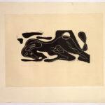 Originalholzschnitt >Tier< , Rudolf Scharpf (1919-2007), 1948 (Digitale Reproduktion: Arbeitsbereich Digitale Dokumentation)