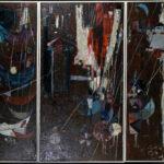Triptychon (Öl auf Leinwand) >Troja< , Helimar Schoormanns (1925-2013), 1959 (Foto: Monika Gräwe)
