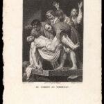 Stich >Grablegung Christi< , Michelangelo Merisi da Caravaggio (digitale Reproduktion: Arbeitsbereich Digitale Dokumentation)