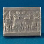 Siegelabrollung: Kampfszene, Akkadzeitlich (etwa 2350 und 2180 v. Chr.) (Foto: Monika Gräwe, Arbeitsbereich Digitale Dokumentation)
