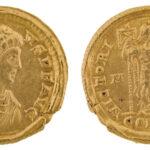 Solidus des Kaisers Arcadius (Foto/©: Oliver Becker, Arbeitsbereich Alte Geschichte)