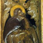 Ikone Der Prophet Elia vor der Höhle (Foto: Ursula Rudischer, Landesmuseum Mainz)