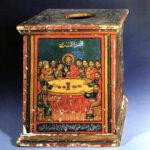 Holzkasten für den Kelch mit Darstellung des Abendmals (Foto: Ursula Rudischer, Landesmuseum Mainz)
