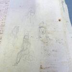 Clemens Brentano: Bleistiftskizzen (Foto: Thomas Hartmann, Universitätsbibliothek Mainz)