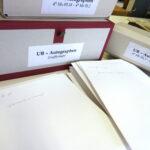 UB-Autographen: Aufbewahrung in der Stadtbibliothek Mainz (Foto: Thomas Hartmann, Universitätsbiliothek Mainz)