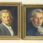 Ölgemälde von Johann Georg Forster und Johannes von Müller (Foto: Universitätsarchiv)